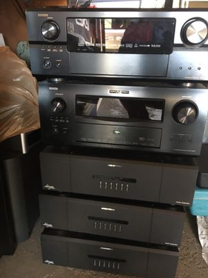 Various electronics, receivers, audio expanders, dvd changer blue ray for Sale in HOFFMAN EST, IL