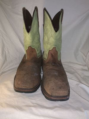 Work boots, steel toe leather Ariat size 11-1/2 EEE for Sale in St. Petersburg, FL