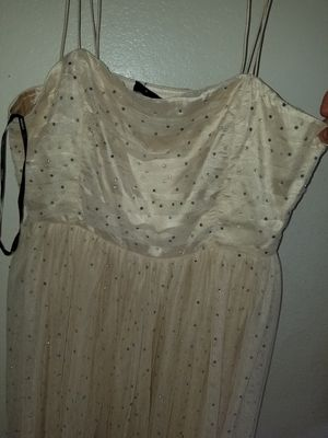 Forver 21 dress size L with ringstones gold brown for Sale in Glendale, AZ