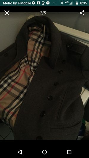 Burberry pea coat for Sale in Stone Mountain, GA
