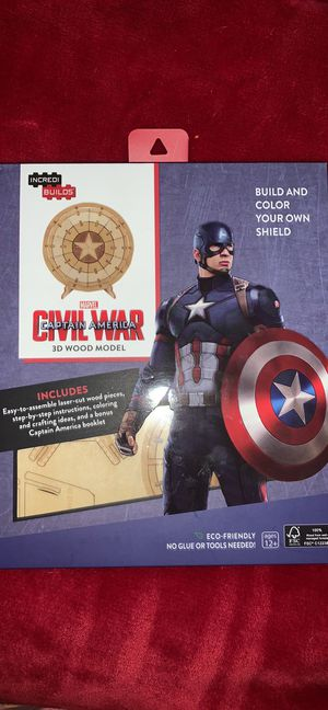 Marvel Incredi Builds Captain America Civil War 3D Wood Model for Sale in Mesquite, TX