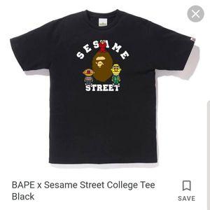 BAPE x Sesame Street Collab T-shirt Men's Large Black for Sale in Miami, FL