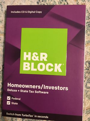 H & R Block Homeowners/Investors Software Disk for Sale in Pittsburgh, PA