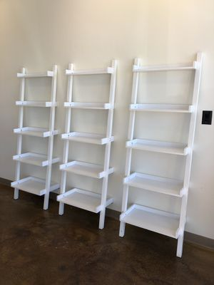 Container Store Leaning Bookshelves for Sale in Dallas, TX