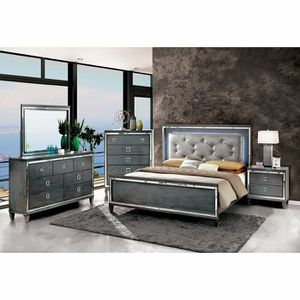 Queen size Silver tufted headboard for Sale in Albany, NY