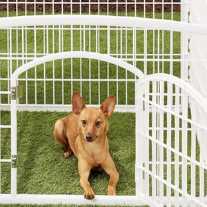 3 Panel Plastic Exercise Dog Playpen with Door, White for Sale in Moreno Valley, CA