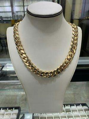 "Miami Cuban Link Chain 395.5g // 20"" // 16.5mm 14K GOLD for Sale in Ciudad Juárez, MX"