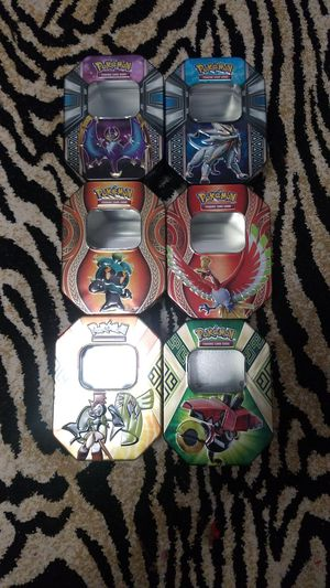 6 pokemon trading card collectible tin boxes for Sale in Everett, WA