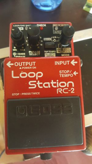 Guitar Boss loop pedal RC 2 for Sale in Los Angeles, CA