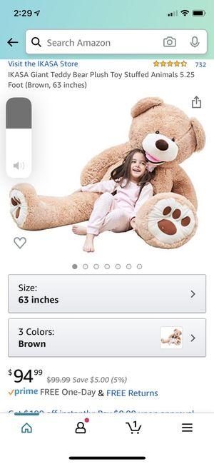 Huge 4+foot teddy bear for Sale in Stockbridge, GA