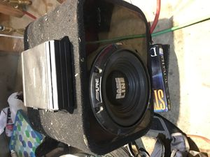 10in Alpine bassline subwoofer with 30A alpine amp in a ported box for Sale in Renton, WA