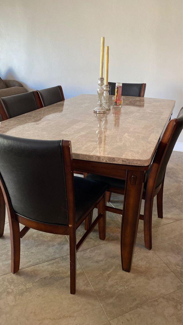 Marble dinning kitchen table
