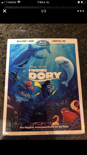 FINDING DORY- only Blu ray movie-bonus...(no dvd-no digitalHD) for Sale in Sunrise, FL
