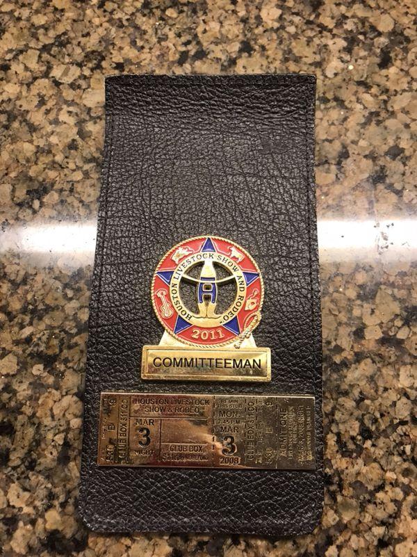 Houston Livestock Show And Rodeo Committeeman Badge 2011