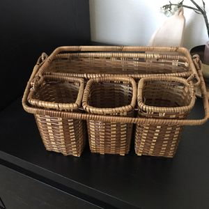 Boho Decor Wicker Caddy for Sale in Rancho Cucamonga, CA