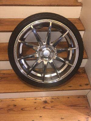20 inch Rims w/tires 5 lug 245/35ZR20 for Sale in Powder Springs, GA
