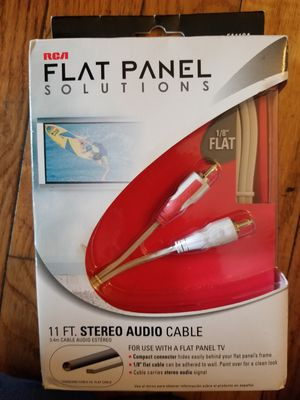 RCA Flat Panel Stereo Audio Cable for Sale in Parkersburg, WV