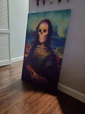 Creepy Bona Lisa Canvas Art for Sale in Norfolk, VA