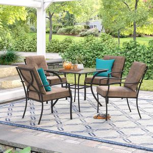 Keensburg 5 Piece Outdoor Patio Dining Set with Cushions for Sale in Solana Beach, CA
