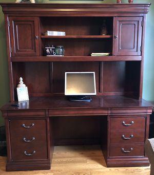 Desk and Hutch (Solid Cherry) for Sale in Murfreesboro, TN