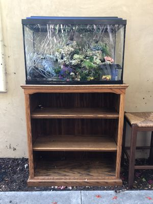 Full 30 Gallon Aquarium Set Up and Stand for Sale in Oceanside, CA