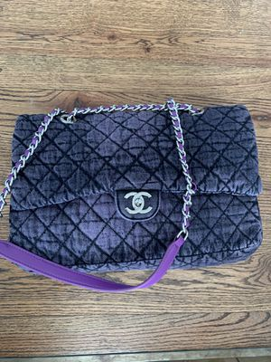 Chanel cruise 2020 denim medium purple flap bag for Sale in Atlanta, GA