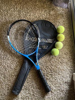 Tennis racket with balls for Sale in Gilbert, AZ