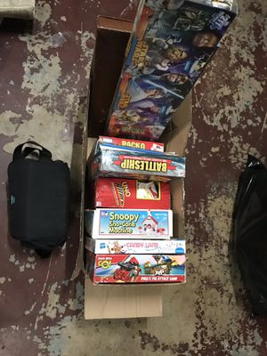 Board games and some puzzles and the camera for Sale in Pembroke Pines, FL