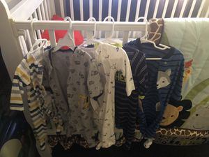 Baby clothes all for 25 some are still with tags brand new my son only used it maybe once !! for Sale in Riverside, CA