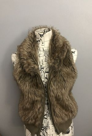 FAUX FUR VEST - never worn before for Sale in Dearborn Heights, MI