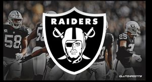 Raiders tickets all games row 5 for Sale in Chico, CA