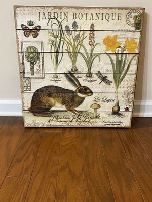 Hardin botinique wood art from Pier 1 for Sale in Raleigh, NC