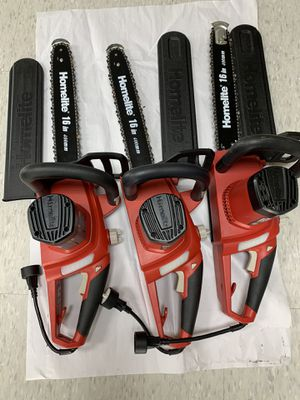Homelite 16 in. 12 Amp Electric Chainsaw $ 30 each $ 30 cada una for Sale in Houston, TX