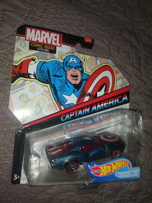 Marbel Hot wheels Captain America car. for Sale in Philadelphia, PA