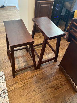 Walnut bar stools - 2 stools for Sale in Woodbridge, VA
