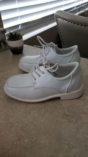 Boys white dress shoes size 11 kids (baptism) for Sale in Las Vegas, NV