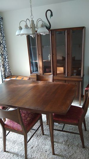 Table, chairs, cabinet, base for Sale in Federal Way, WA