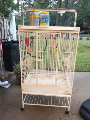 Large bird cage with accessories for Sale in Spring, TX
