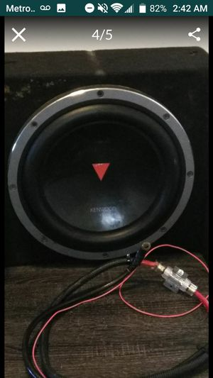 12inch Kenwood Speaker in Box With Amplifier! for Sale in Ridgecrest, CA