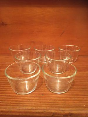 Vintage Pyrex custard dessert glass bowls for Sale in Pemberton, NJ