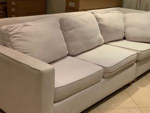 Beige West Elm Sectional Couch for Sale in Miami, FL