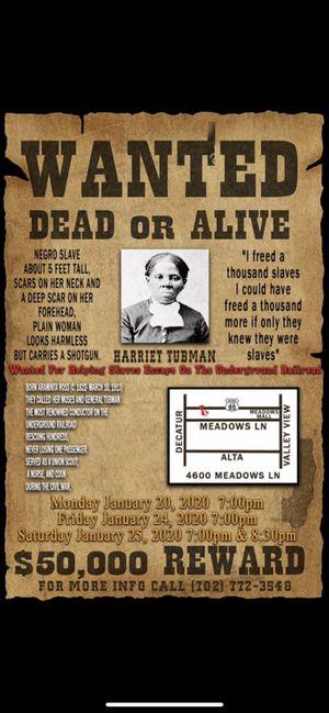 Harriet Tubman live for Sale in Las Vegas, NV