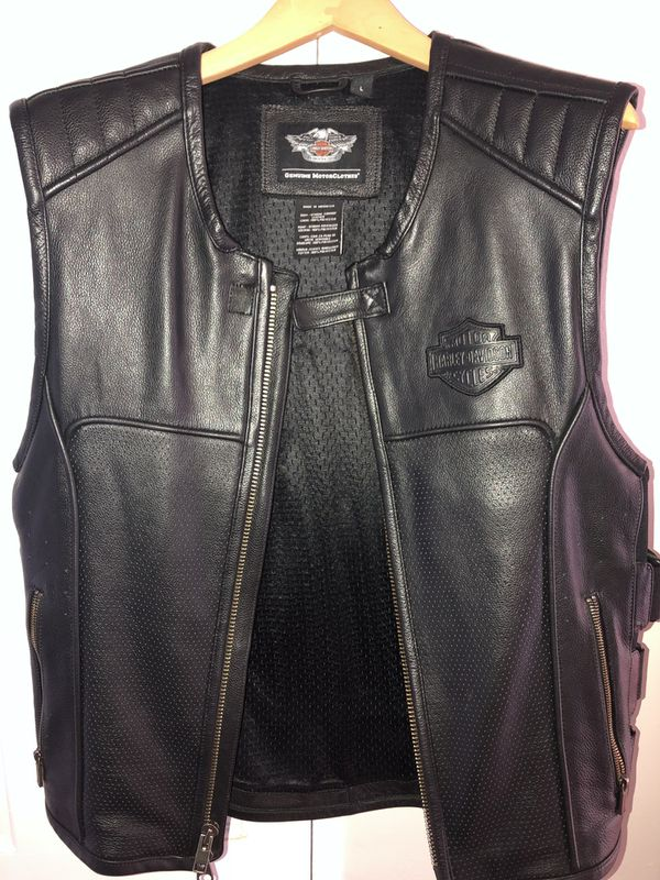 Harley Davidson Motorcycle Riding Vest men's Large