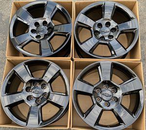 "20"" Chevy Silverado Tahoe factory wheels rims gloss black new for Sale in Santa Ana, CA"