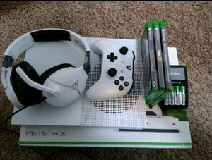 Xbox one s with games and accessories for Sale in Greensburg, PA