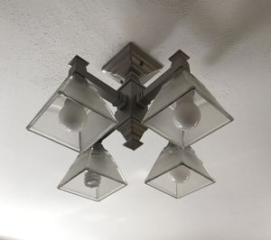 Mission-style chandelier - 4 lights downward facing for Sale in Seattle, WA