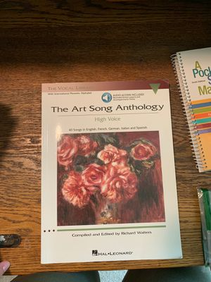 The Art Song Anthology for Sale in Mount Joy, PA