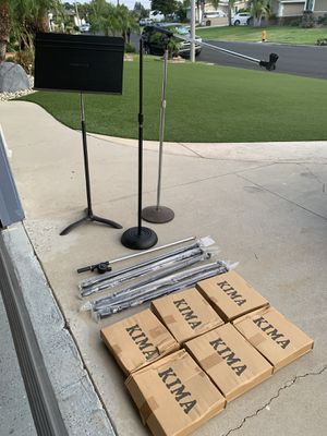 7 Microphone Stands & 1 Music Sheet Stand for Sale in La Mirada, CA