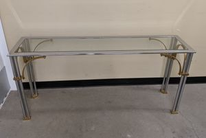 Milo Baughman MCM chrome brass & glass console table for Sale in Seattle, WA