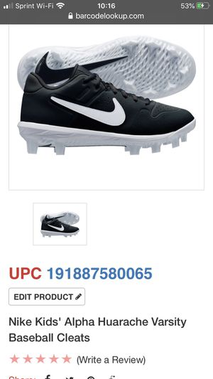 Nike Kids Baseball Cleats - 6Y for Sale in Sterling, VA